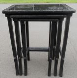 Edwardian Period Ebonized Nest of Three  Coffee Tables